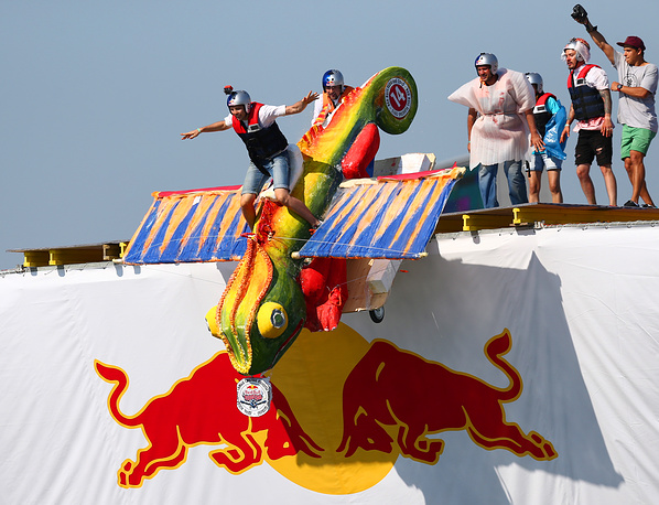 2015 Red Bull Flugtag show in which competitors attempt to fly homemade flying machines