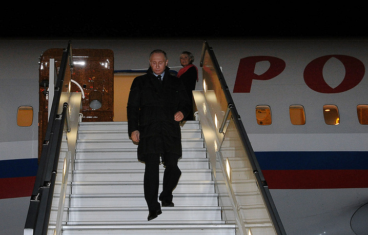 Russian President Vladimir Putin arrives in Crimea