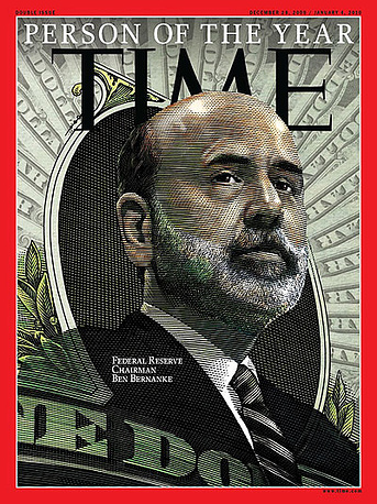 "In 2009 Time named Federal Reserve Chairman Ben Bernanke as its Person of the Year, calling him ""the most powerful nerd on the planet. Bernanke was the head of the US central banking system during the financial crisis of 2007–08"