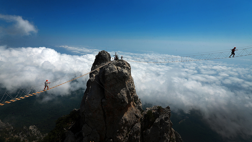 Ai-Petri peak in the Crimean Mountains, August 15, 2015