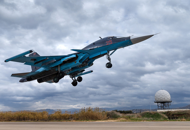 Aerospace Force's Sukhoi Su-34 bomber in Syria