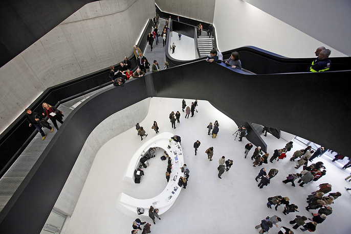 Interior view of the Maxxi, the Museum of the 21st Century Arts in Rome, Italy