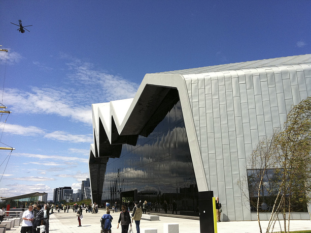 Riverside Museum in Glasgow, Scotland