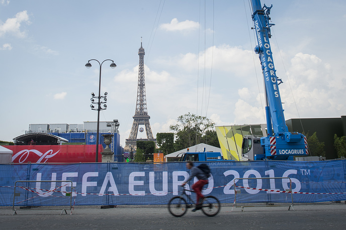 Euro 2016 Fan Zone at the Eiffel tower in Paris