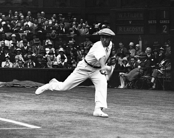 """French tennis champion Rene Lacoste, nicknamed """"the Crocodile"""" by fans because of his tenacity on the court, won two Wimbledons in 1920s. He is also known worldwide as the creator of the Lacoste tennis shirt, which he introduced in 1929"""