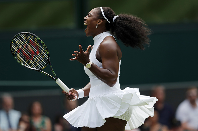 American Serena Williams, who is ranked No. 1 in women's singles tennis, won six Ladies' Singles Wimbledon titles