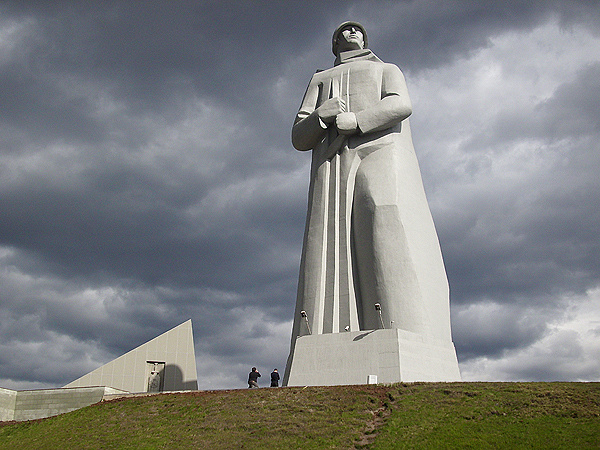 The monument to the Defenders of the Soviet Arctic during the Great Patriotic War, commonly called Alyosha, is 35.5 metres high statue in Murmansk