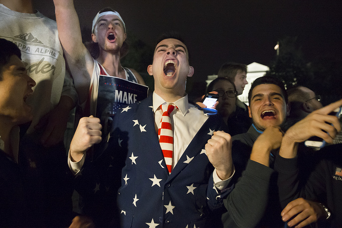 Supporters of President-elect Donald Trump