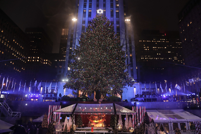 84th annual Rockefeller Center Christmas tree lighting ceremony in New York, November 30