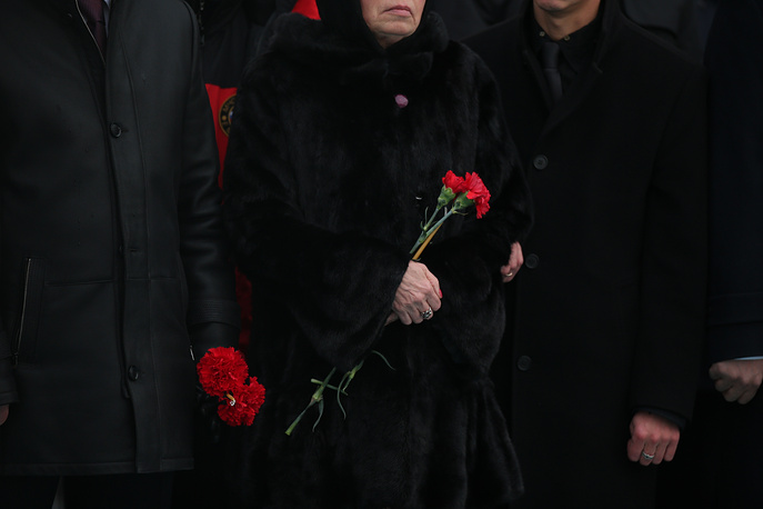 Marina, the wife of Russian Ambassador to Turkey Andrei Karlov