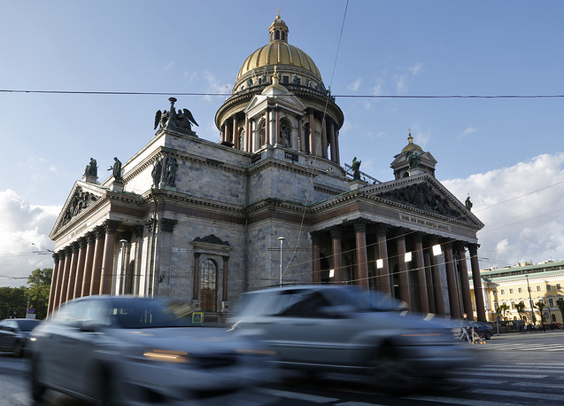 The St. Isaac's Cathedral is one of the St.Petersburg's landmarks and a UNESCO World Heritage site