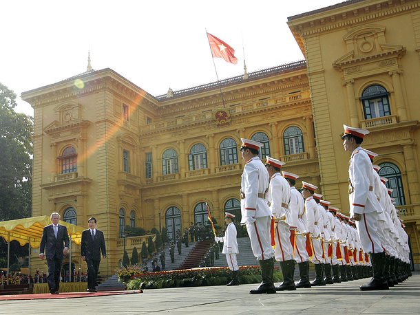 Presidential Palace of Vietnam is located in Hanoi. The palace hosts government meetings
