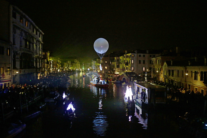 The opening show during the Venice Carnival