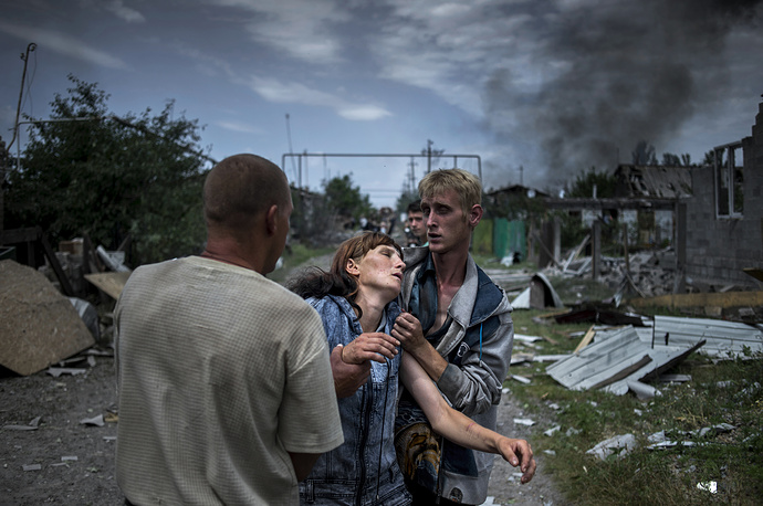 Long-Term Projects, Winner. Rossiya Segodnya photographer Valery Melnikov. Title: Black Days Of Ukraine