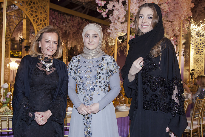 Chopard's co-president Caroline Gruosi-Scheufele and Chechen Republic head Ramzan Kadyrov's daughter Aishat Kadyrova