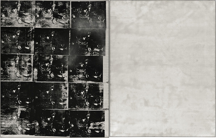 Silver Car Crash (Double Disaster) by the American artist Andy Warhol was sold for $105,4 mln in 2013
