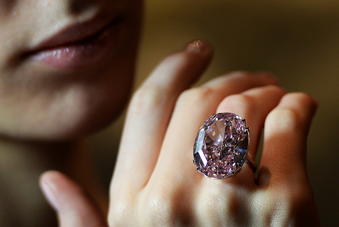 """On November 13, 2013, Sotheby's sold the 59.60-carat """"Pink Star"""" for $83.2 mln to New York-based diamond cutter Isaac Wolf who eventually defaulted on the deal. The Pink Star was mined by De Beers in 1999 in South Africa, and weighed 132.5 carat in the rough"""