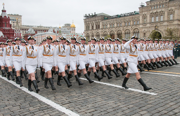 Female servicemen of the Military University of the Russian Defense Ministry