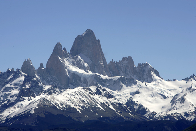 View of Cerro Chalten at Los Glaciares National Park