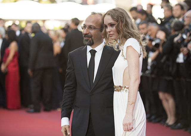 Asghar Farhadi and Lily-Rose Depp