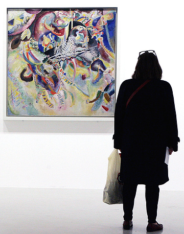 "Ernst Beyeler, a dealer from Basel, Switzerland, bought Wassily Kandinsky's ""Fugue"" (1914) for $20.9 million in 1990"