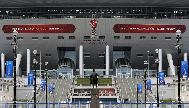 A view of Saint Petersburg Arena ahead of the 2017 FIFA Confederations Cup