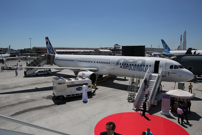 Airbus A321neo passenger jet airliner
