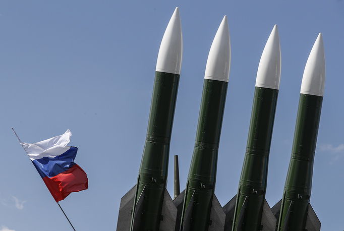 Russian self-propelled, medium-range surface-to-air missile systems Buk-M23