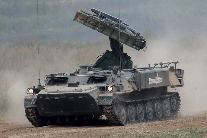 Gyurza air defense missile system during a fire demonstration