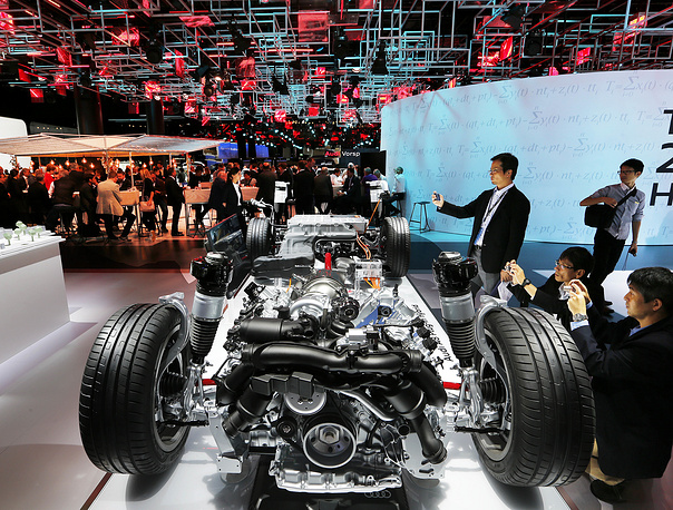 The chassis of an Audi A8 plug-in-hybrid