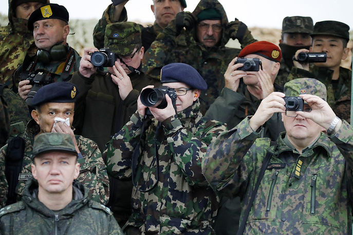Observers and military attaches from more than 60 states were invited to one of the central episodes of the Zapad-2017 military drills