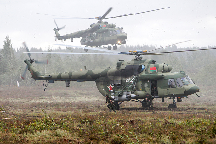 A helicopter insertion at Borisovsky range