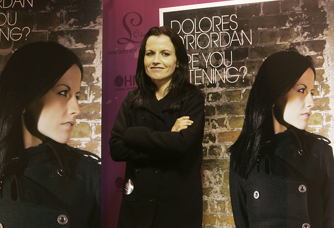 """Dolores O'Riordan promoting her solo album titled """"Are You Listening?"""" in Hong Kong, 2007"""