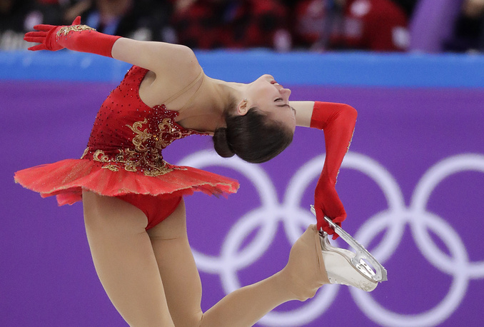 Alina Zagitova performs in the ladies single free skating at the 2018 Winter Olympics