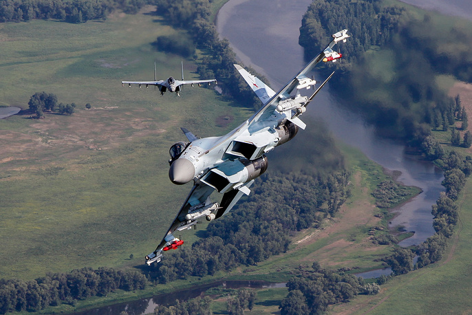 Su-35 is a Russian-made multipurpose generation 4++ super-maneuverable fighter jet