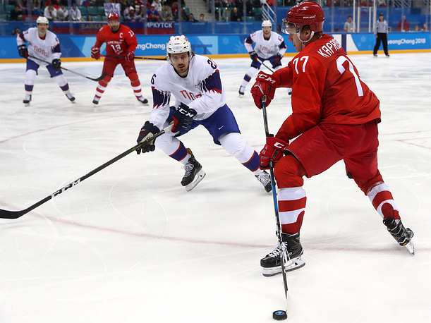 Russia's ice hockey team qualifies for Winter Olympic semifinals