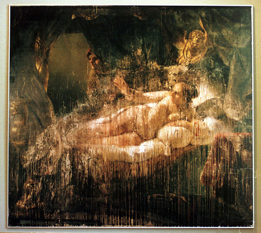 On June 15, 1985, Rembrandt's painting Danae was attacked by a deranged visitor in St. Petersburg's Hermitage Museum. He threw sulfuric acid on the canvas and cut it twice with his knife. The restoration of the painting was accomplished between 1985 and 1997