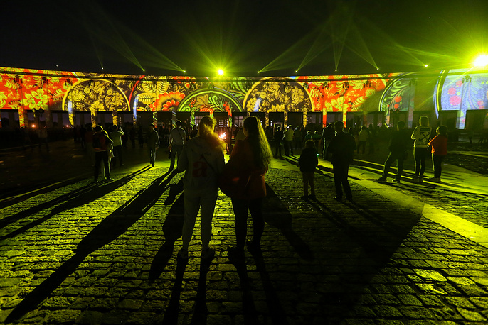 This year's Circle of Light shows premiered at the Museum of the Great Patriotic War and in the Kolomenskoye Estate
