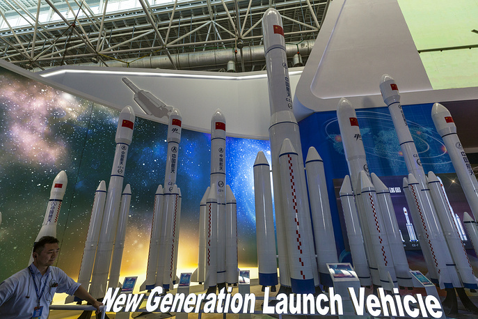 Models of launch rockets produced by China Aerospace Science and Technology Corporation