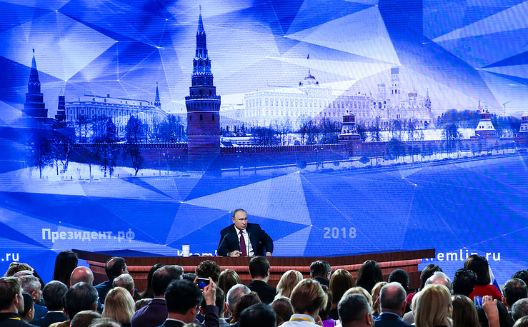 Vladimir Putin's 14th annual news conference lasted three hours and 44 minutes