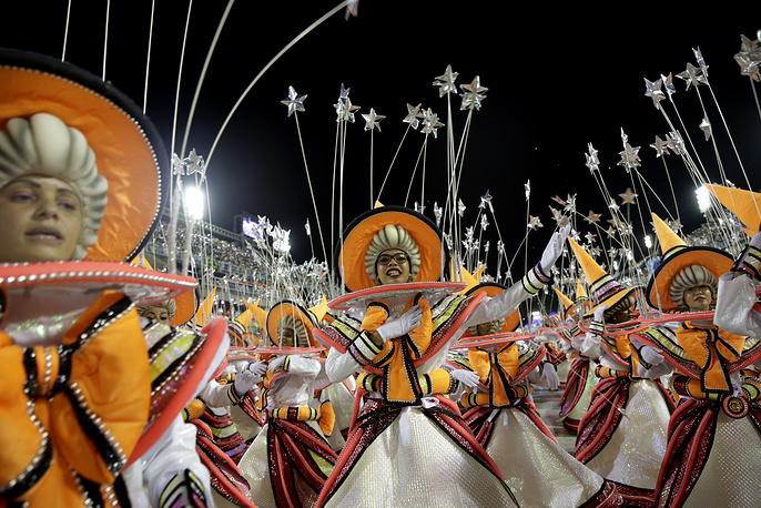 Performers from the Viradouro samba school