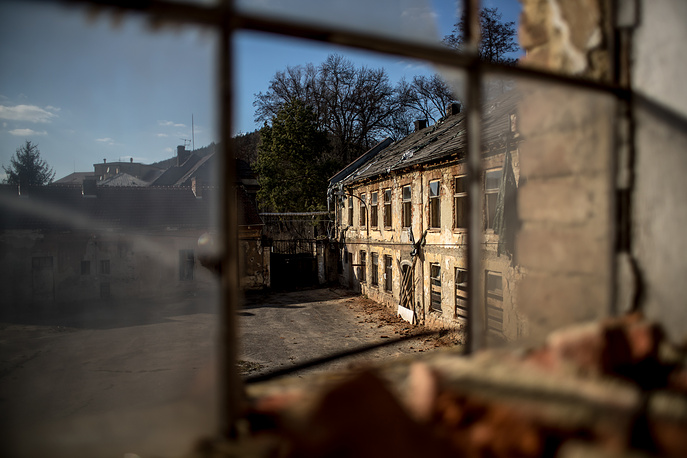 A view of remains of the former Schindler factory complex in Brnenec, Czech Republic, March 20. German businessman Oskar Schindler is credited with saving the lives of 1,200 Jews during the Holocaust by employing them in his factories in occupied Poland