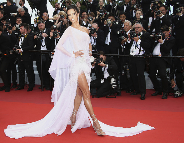 Model Alessandra Ambrosio posing for photographers at the opening ceremony and the premiere of the film 'The Dead Don't Die' at the 72nd international film festival, Cannes