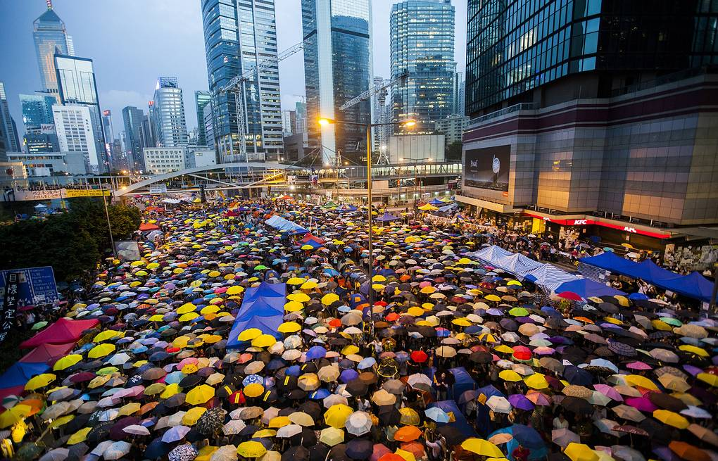 Protesters in Hong Kong EPA/ALEX HOFFORD