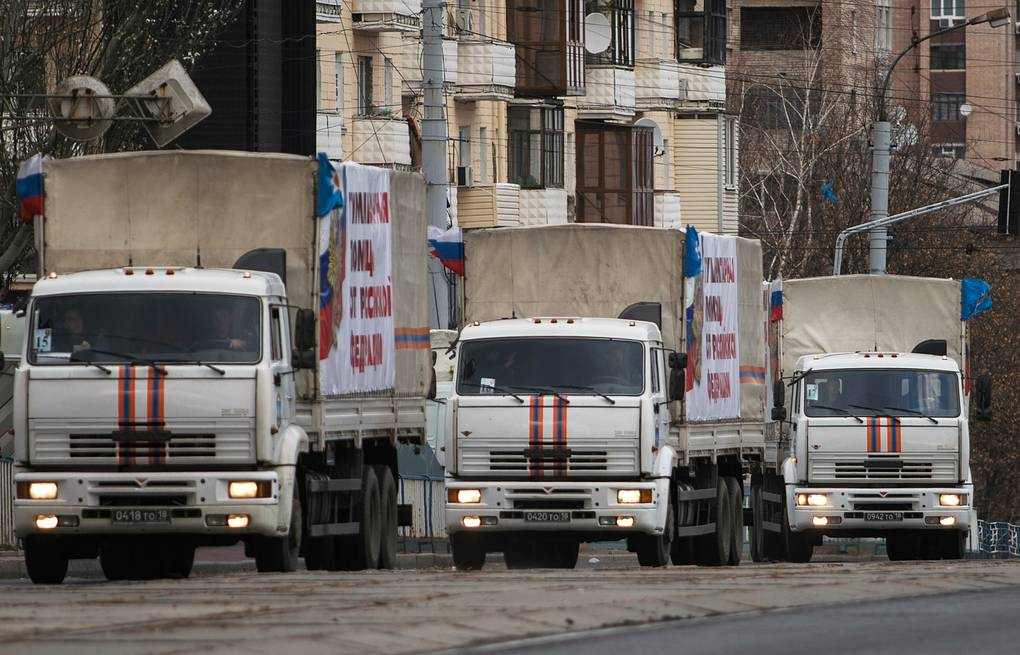 Trucks carrying humanitarian aid for residents of the eastern Ukraine Stanislav Krasilnikov/TASS