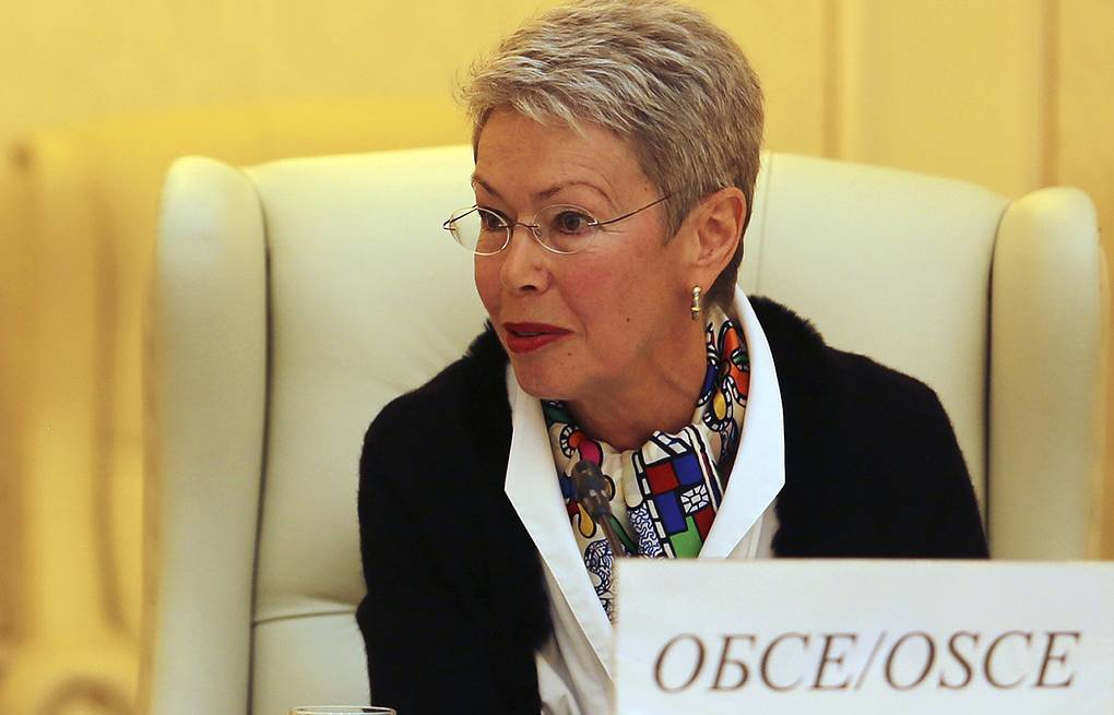 Special representative of the OSCE chairperson-in-office to the Trilateral Contact Group, Heidi Tagliavini AP Photo