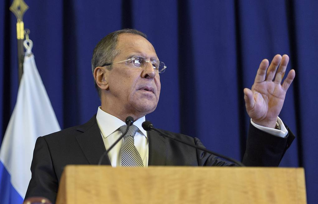 Russian Foreign Minister Sergey Lavrov EPA/MARTIAL TREZZINI
