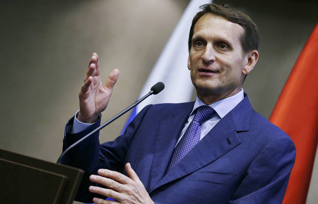 Sergey Naryshkin Anna Isakova/Russian State Duma Press Office/TASS