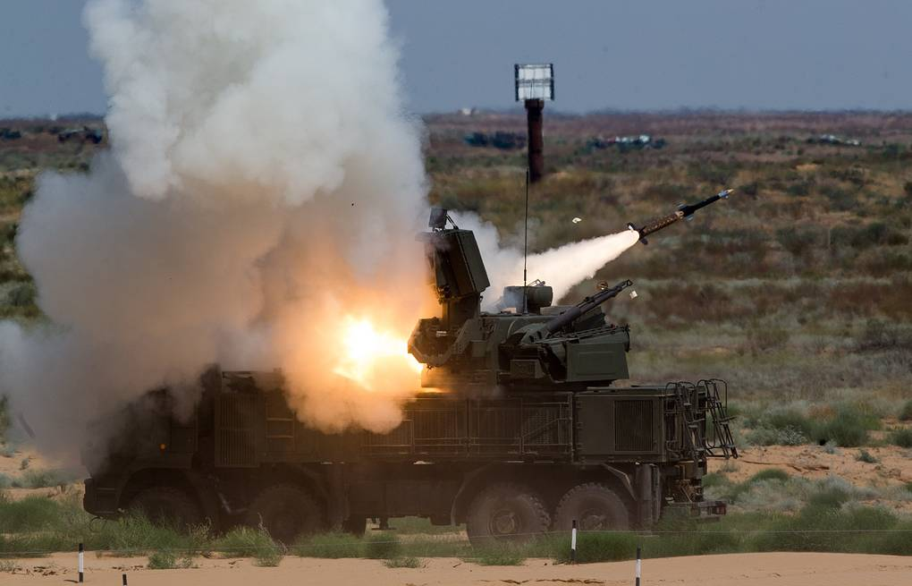 Pantsir-S air defense system Sergei Bobylev/Russian Defence Ministry Press Office/TASS