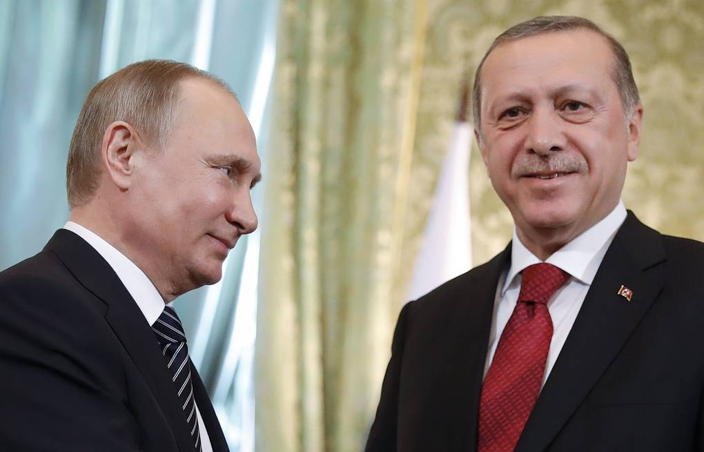 Russian and Turkish presidents, Vladimir Putin and Recep Tayyip Erdogan  Mikhail Metzel/TASS